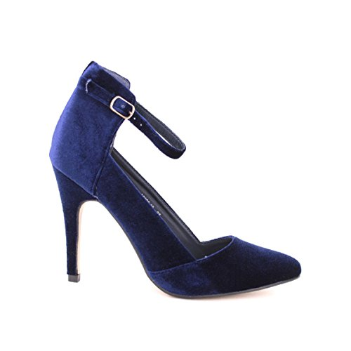 Cendriyon, Escarpin velour Blue SERINA Chaussures Femme Bleu