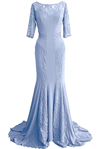 MACloth - Robe - Moulante - Femme Bleu - Bleu ciel
