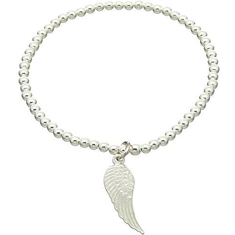 Bouddha to Light B2L Handmade–Argent Fin Bracelet de cheville ailes Wing