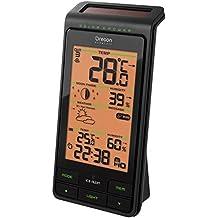 Oregon Scientific BAR808HG - Estación meteorológica solar, humedad int/ext, con sensor remoto, color negro