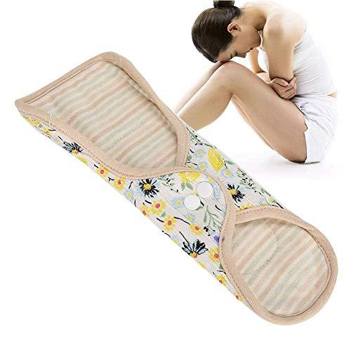 Feminine Pads (H.Yue Sanitary Pad, Feminine Washable Cloth Menstrual Pad Fan-Shaped Wing Reusable Sanitary Napkin Panty Liner Organic Reusable Cotton Pads to Effective Leak Proof (White))
