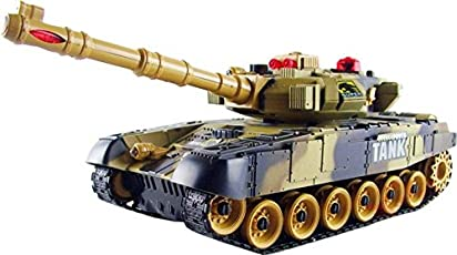 Toykart Remote Control Tank, Full Function, Rechargeable, Big Size with Light and Sound