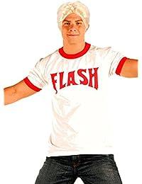 6340a5efefc107 Unbekannt Flash Gordon Logo Rosso Ringer T Shirt parrucca bionda costume set
