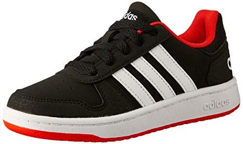 adidas Unisex-Kinder Hoops 2.0 Fitnessschuhe, Schwarz (Negro 000), 34 EU (Adidas Schuhe Jungen Basketball)