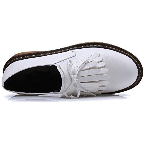 HUDONGBOCourt Tacchi Shoes White bassi donna rTqrw5UxR1