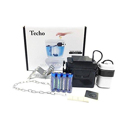 Touchless Toilet Flush Kit for Retrofit& Repair/Wave Sensor Dual-Flush Converter Replacement/ Motion Sensor Activated Flusher by TECHO Beste Youtube Konverter