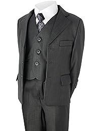 Garçons 5 Pièces Costume Fête De Noces Pantalons Veste Chemise Gilet Cravate