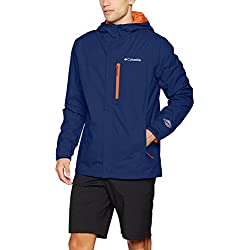 Columbia Pouring Adventure II Jacket Chaqueta Impermeable, Aislamiento térmico sintético Hi-Loft, Hombre, Azul, XXL