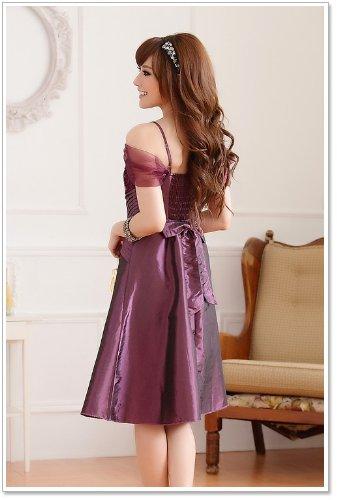 VIP Dress Luccicante Abito da sera in viola, nero e beige Viola