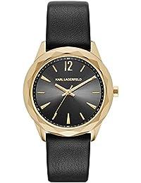 Karl Lagerfeld Damen-Armbanduhr Analog Quarz One Size, schwarz, schwarz