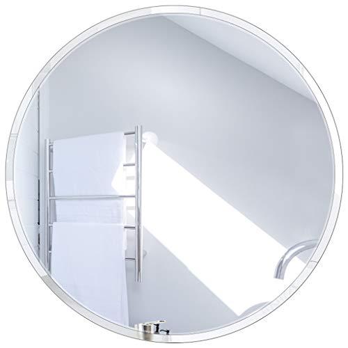 Círculo sin Marco Pared de Espejo/Espejo de Cristal Real: Redondo y Biselado (Diámetro 50-80cm