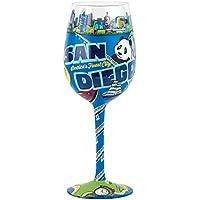Santa Barbara Design Studio Lolita Love My Wine Hand Painted Glass, San Diego by Santa Barbara Design