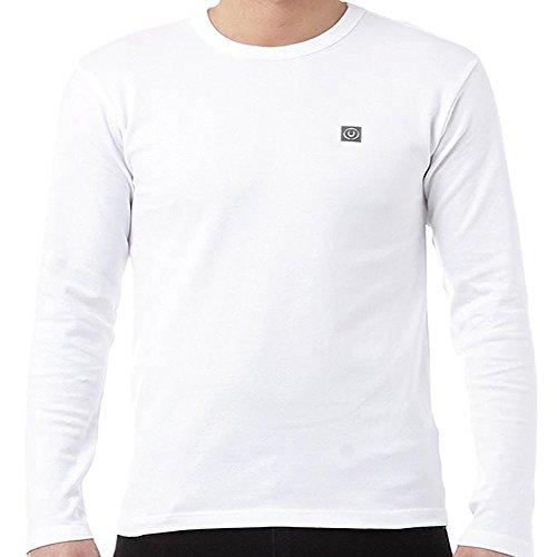 uomo manica lunga maglione DUCK & COPERTURA T SHIRT MAGLIONE GIROCOLLO ESTATE FIRMATO NUOVO Bianco - Serie