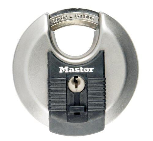Preisvergleich Produktbild Master Lock Excell Disk-Schloss für den Außenbereich mit eingefasstem Bügel,  mit Schlüssel,  70 mm aus Edelstahl