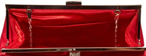 Victoria Delef  EVENING BAG,  Pochette donna Rosso (Rot (ROJO))