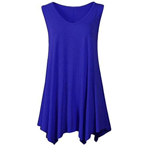 iHENGH Damen Damen Lässige Blumen Splice-Streifen Druck Rundhalsausschnitt Pullover Bluse Tops T-Shirt -