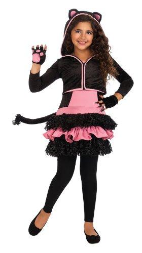 Rubies Kostüm Co. Inc Damen Kind Schwarz Kitty ()