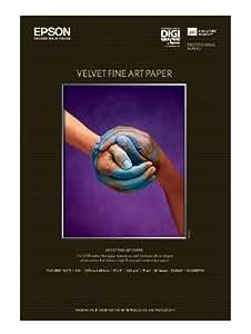 Epson Velvet Fine Art Paper, Carta Fotografica Velvet, 20 fogli, A3+, 43 x 48.3 cm