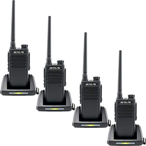 Retevis RT647 Talkie Walkie IP67 Imperméable sans Licence PMR446 VOX Squelch Scan TOT Moniteur CTCSS/DCS Talkie-Walkie(4Pcs,Noir)