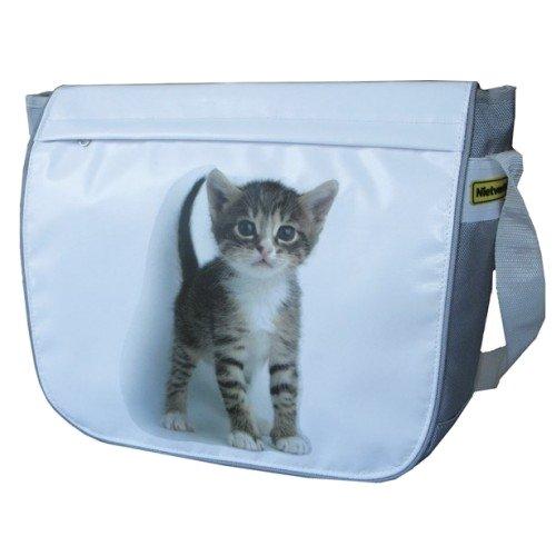 Fahrradtasche Schultertasche Tasche Tiermotive 6 Farben Katze