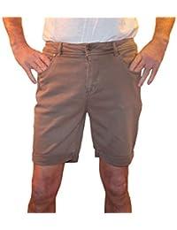Bermuda 1st American stretch 5 tasche slim fit twill tinto capo elasticizzato