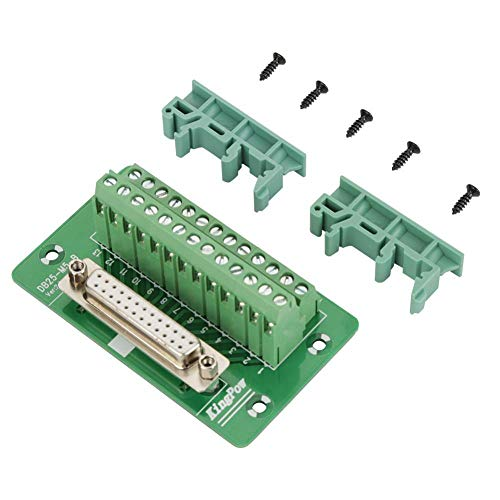 Breakout Board Module, Klemmenblock-Modul, DB25 DIN-Schienenmontage-Schnittstellenmodul Anschlussklemmen-Breakout-Board(Weiblicher Kopf) -