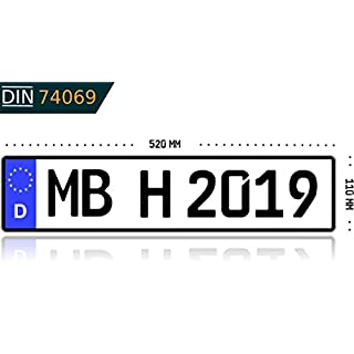 Kennzeichen Autokennzeichen Wunschkennzeichen Nummernschild PKW Kennzeichen Fahrradträger Anhänger reflektierend individualisierbar