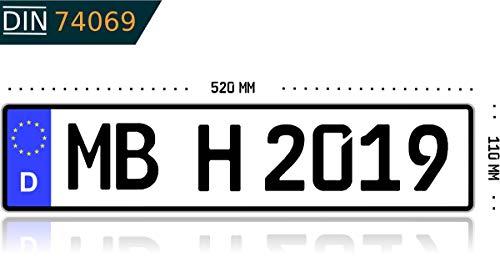 Kennzeichen-Autokennzeichen-Wunschkennzeichen-Nummernschild-PKW-Kennzeichen-Fahrradtrger-Anhnger-reflektierend-individualisierbar