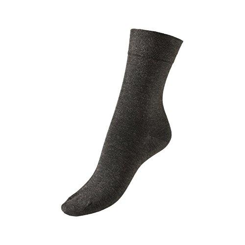 GoWell Med X-Static - Socken mit antimikrobieller Silber-Faser - ideal bei Diabetes, Allergien, Fußgeruch, Fußschweiß und senbsiblen oder temperaturempfindlichen Füßen - Größe II - Farbe schwarz