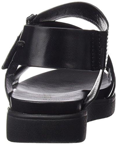 Bugatti - J81886n, Scarpe col tacco con cinturino a T Donna Nero (Nero (Nero 100))