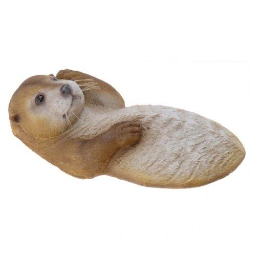 Schwimmtier Otter Teichfigur Gartendekoration Teichdekoration Tier Gartenfigur Schwimmfigur Gartenteich NEU, Modell / Charakter:Links