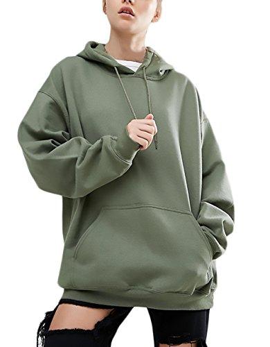 Hoodie Damen Sweatshirt Jungen Große Größen Locker Hooded Pullover Fledermaus Elegant Langarm Für Mollige Vordertaschen Normallacks Casual Streetwear Lose Mode Hoods Herbst