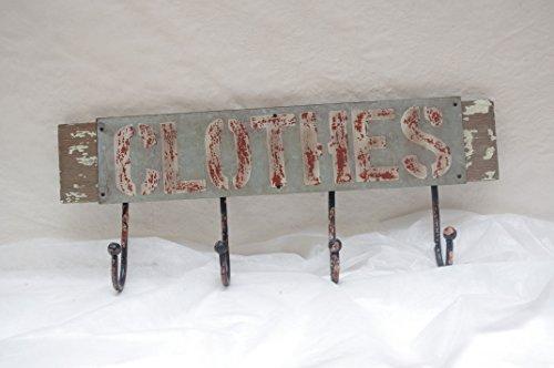 Garderobe Metall 4 Haken Landhaus Hakenleiste Wandgarderobe vintage shabby chic