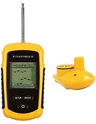 LeaningTech Finder Portable poisson sondeur sans fil poissons capteur sonar de viseur le bateau appât avec affichage LCD longue portée pour la pêche 40m de pêche sur la glace