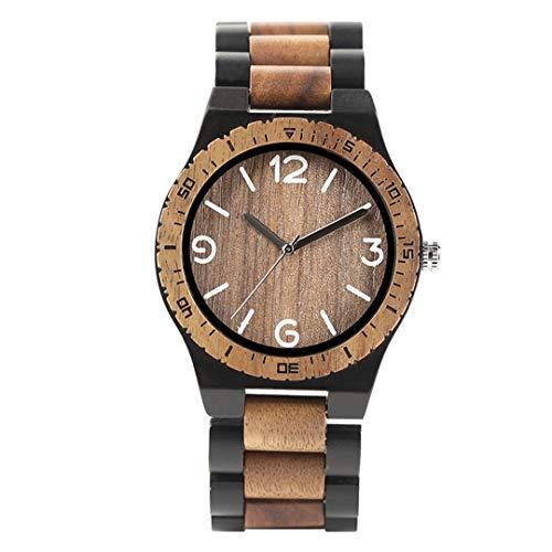 Klassische Zebra Holz MäNner Armbanduhr Quarz Casual Design Business Volle Holz Kreative Uhren Beste Geschenk FüR MäNnlichen Vater Black