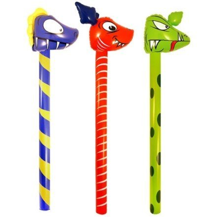 Image of 3 Inflatables Dinosaurs Sticks 118 cm Party Games Kids Child Blow Up Toy