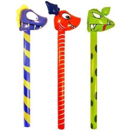 3 Schlauchboote Dinosaurier Stäbe 118 cm Party Spiele Kinder Kind Zum Aufblasen Spielzeug