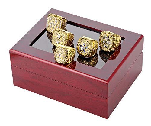 Budazo Herren Super Schüssel Dallas Cowboys Voll Einstellen Meisterschafts Ringe,Gold,Größe 72 ()