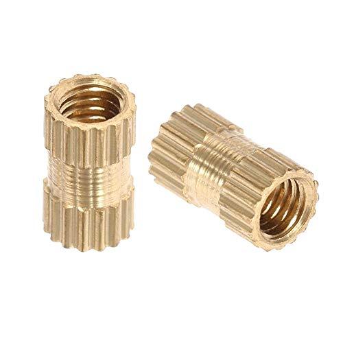 50 STÜCKE Messing Zylinder Rändelmuttern Innengewinde Eingespritzte Einlegemuttern Runde Embedded Formsets Set(M3*7 * 4.2(50pcs))
