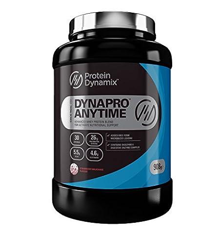 Protein Dynamix Dynapro Anytime 100 Percent Whey Protein Powder Strawberry Milkshake Flavour Drink Mix, 908 g
