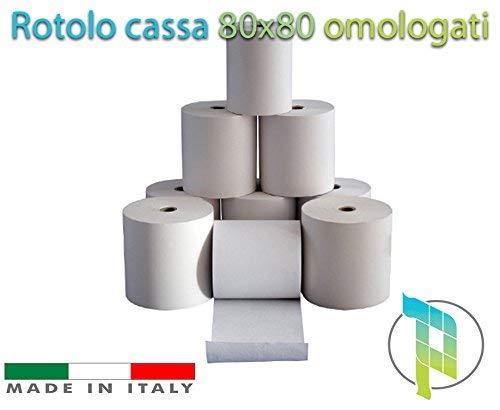 Palucart® 20 Rollen Thermisches Papier 80 x 80 Rolle Cassette -