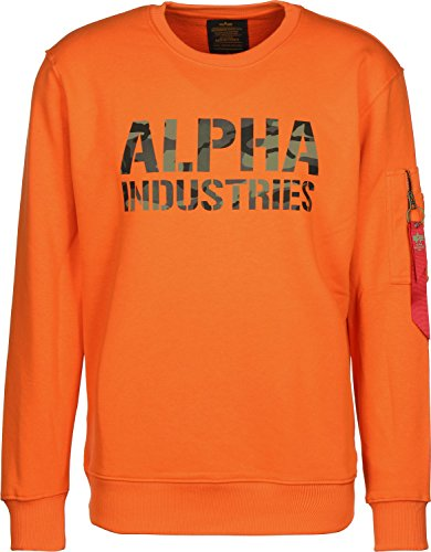 Alpha Industries Camo Print Sweater flame orange (Flame Orange Camo)