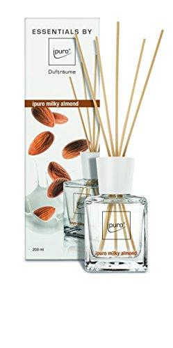 ipuro ESSENTIALS Raumduft milky almond, 1er Pack (1 x 200 ml)