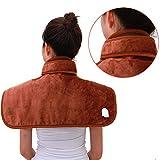 Heated Blanket Collo del paracalore avvolgitore Elettrico per alleviare la Spalla e Il disagio cervicale,Brown,Big