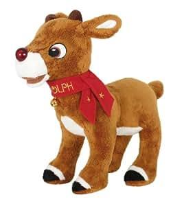 Rudolph mit der roten Nase, Plüsch-Rentier mit Leucht- und Soundmodul 30 cm