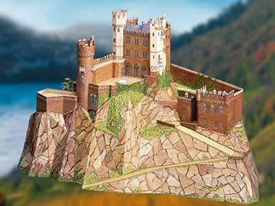 Kartonmodellbau. Burg Rheinstein (1:160) -