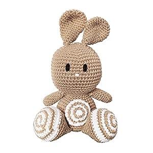 LOOP BABY – gehäkelter Kuscheltier Hase – beige – aus Bio-Baumwolle – waschbar