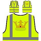 Krone Schöner König Personalisierte High Visibility Gelbe Sicherheitsjacke Weste q961v