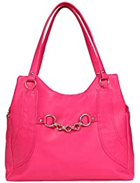 Borse Women/Ladies & Girls Pink Shoulder Bag - Women's Everyday Casual & Stylish/Fashionable & Versatile Hand bags - Gift for Friend/Girlfriend & Wife