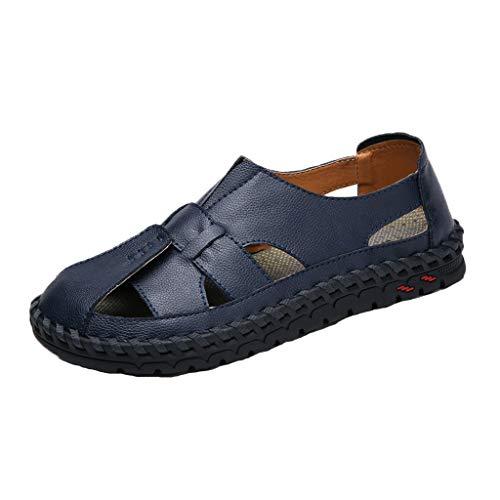 nd Amerikanische Retro Männer Flache Schuhe Sommer Neue Hohle Sandalen ()